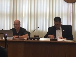 Left - City Administrator Jim Arndt; Right - Mayor Jeff Bloemker