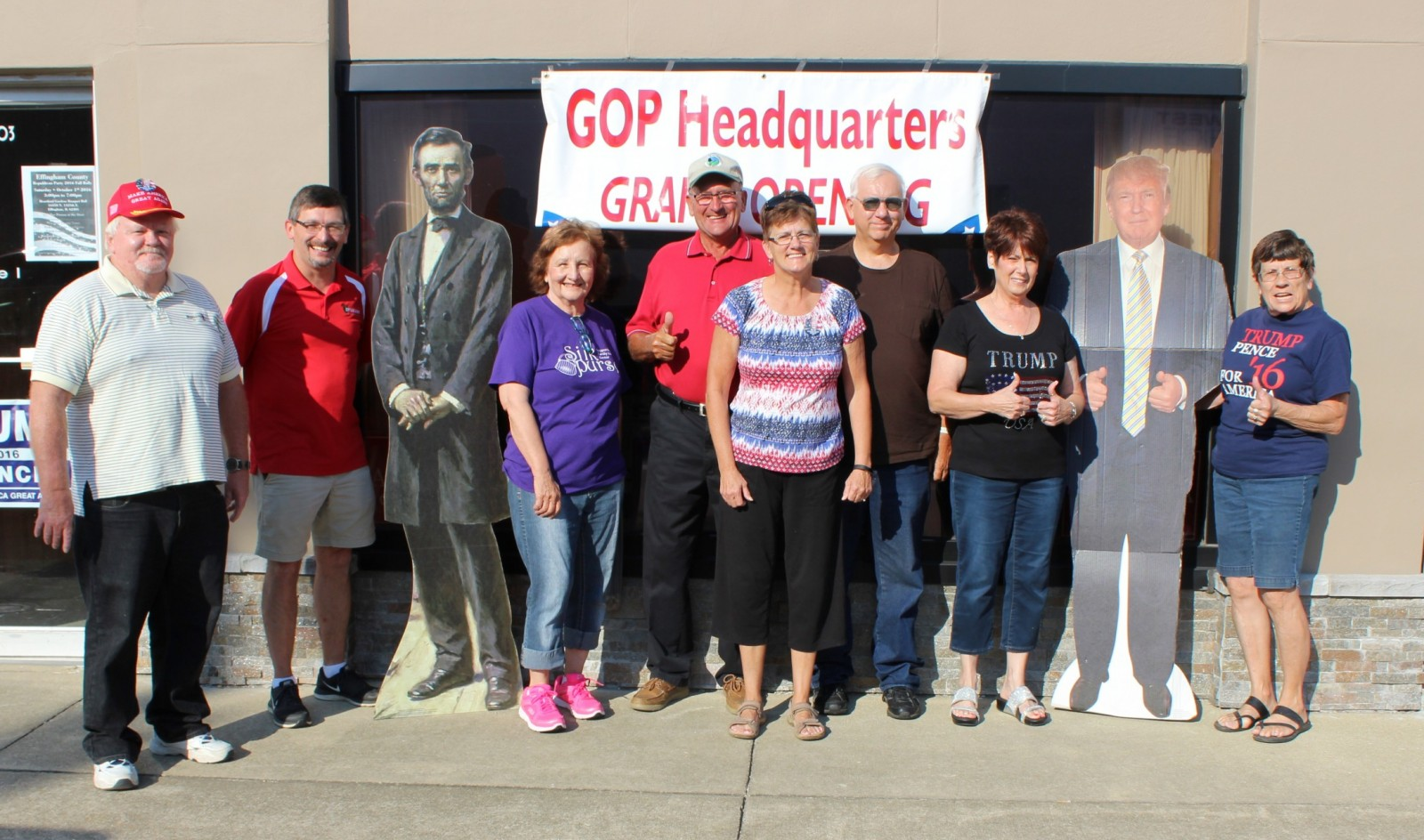 Effingham County Republicans gather at the newly opened GOP Headquarters in downtown Effingham