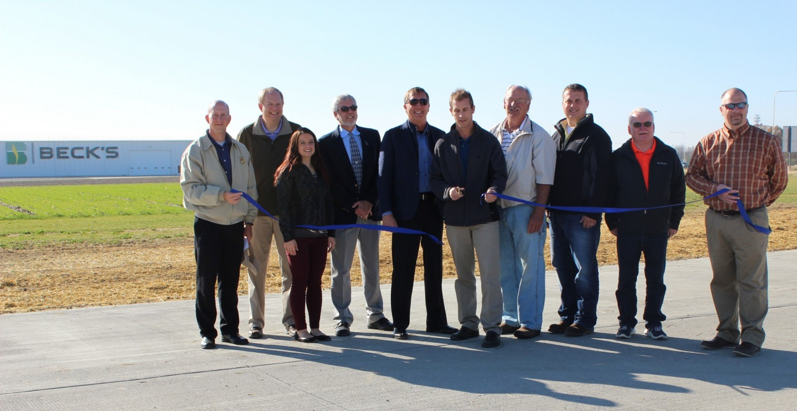 Effingham City Engineer Jeremy Heuerman cuts the ribbon and opens Pike Avenue.