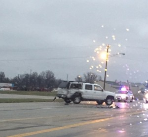 Banker Street accident. Photo courtesy of April Koester