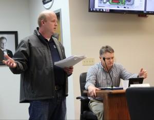 Jason Sandschafer expresses concerns on behalf of Niemerg's Steakhouse