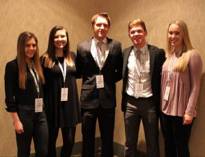 Student organizers of the CEO Experience hosted local media at the Thelma Keller Convention Center. PICTURED(L-R) Mary Claire Wegman, Carson Howard, Mitchell Sager, Donovan Hammer, Kelly Rentfrow. All of St. Anthony High School.